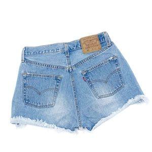 High Waisted Vintage Levi Denim Cut Off Shorts